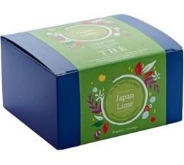 Bo�te 20 sachets - Th� vert Japan Lime - Comptoir Fran�ais du th�
