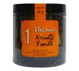 Th� noir n�1 Maison Taillefer noisette vanille pot 60g