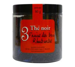Th� noir n�3 Maison Taillefer fraise des bois rhubarbe 60g
