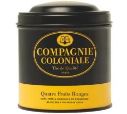 Boite Compagnie Coloniale Th� noir Quatre Fruits Rouges - 150 gr