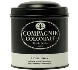 Boite Compagnie Coloniale Th� noir Chine Extra - 130 gr
