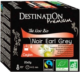 Th� noir bio Earl Grey Destination x20 sachets