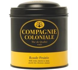 Boite Compagnie Coloniale Th� noir Ronde Fruit�e - 150 gr