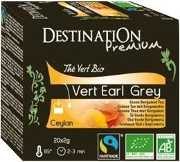 Th� vert bio Earl Grey Destination x20 sachets