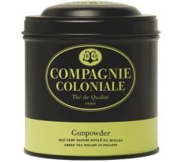 Boite Compagnie Coloniale Th� vert Gunpowder - 150 gr