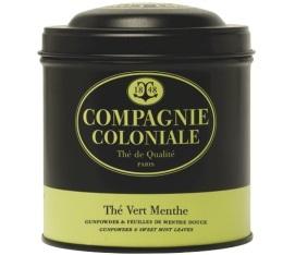 Boite Compagnie Coloniale Th� Vert Menthe - 150 gr