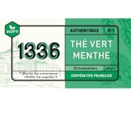 Thé vert à la Menthe 1336 (Scop TI) x 20 Mousselines