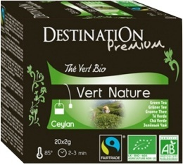 Th� vert bio nature Destination x20 sachets