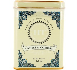 Th� noir Harney & Sons D�th�in� Vanilla Comoro - 20 sachets