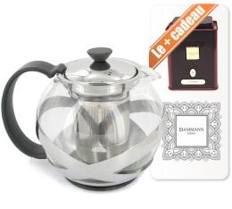 Th�i�re � piston Crema Inox 1L - Bodum + boite de th� collection Dammann offerte