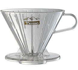 Dripper Tiamo V02 conique transparent 4 tasses