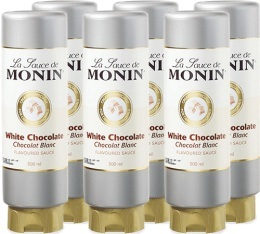 6 x Coulis Chocolat Blanc 500ml - Monin