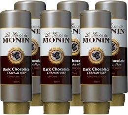 6 x Coulis Chocolat Noir 500ml - Monin