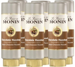 6 x Coulis Chocolat Noisette 500 ml - Monin