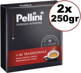 Caf� moulu Pellini Espresso Sup�rieur N�42 Traditionnel 2x250g