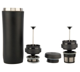 Mug travel press noir mat avec filtre à café + thé - 35cl -  Espro