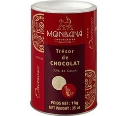 Chocolat en poudre tr�sor de chocolat - Monbana - 1 kg