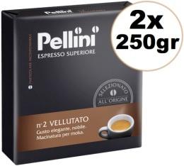 Caf� moulu Pellini Espresso sup�rieur N�2 Vellutato 2x250g
