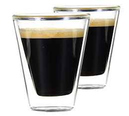 2 Verres Double Paroi Caffeino 8.5 cl