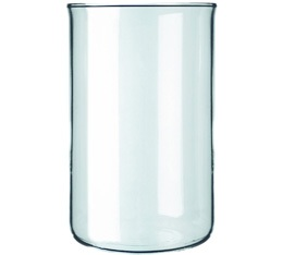 Verre de rechange sans bec cafeti�re � piston 8 tasses 1L