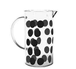 Verre de rechange pour cafetière Zak!designs DOT DOT noire - 3 tasses