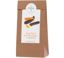 Sachet zestes d'orange enrobés de chocolat noir - 125gr - Café Tasse