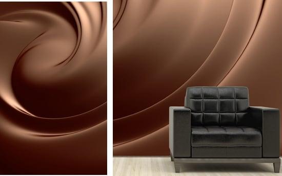Papier peint chocolat deco cha ne caf maxicoffee for Papier peint effet de matiere