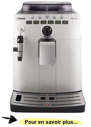 Test vid o de la saeco intuita silver cappuccino machine automatique - Machine expresso meilleur rapport qualite prix ...