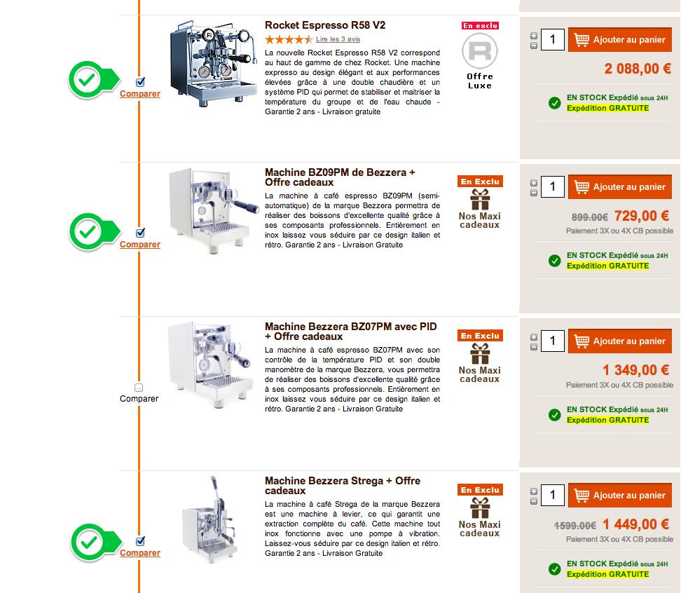 Tableaux comparatifs machines caf expresso - Les meilleures machines expresso ...