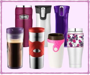 selection girly travel mug