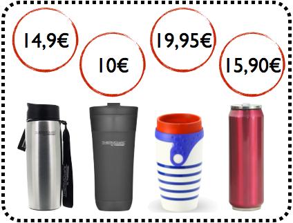 selection de travel mug pour les étudiants