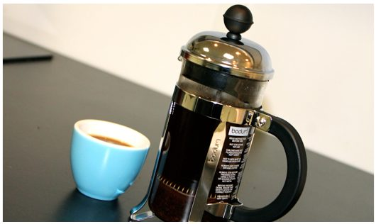 café avec une french press