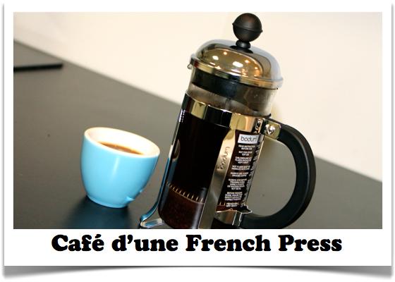 café avec une french press
