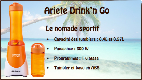 blender ariete drink and go