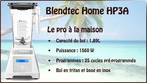 blender blendtec home hp3a