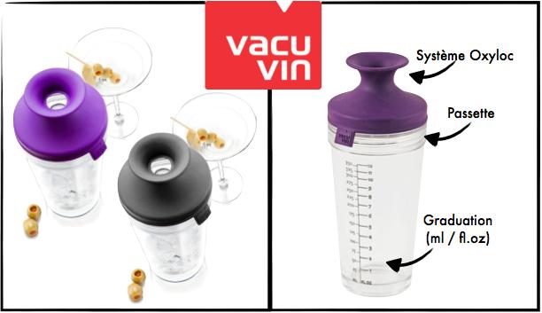 Présentation cocktail shaker Vacu Vin
