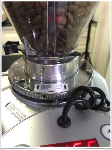 Réglage micrométrique de la mouture