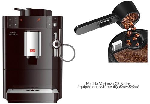 Melitta Varianza CS Noire bac à grains