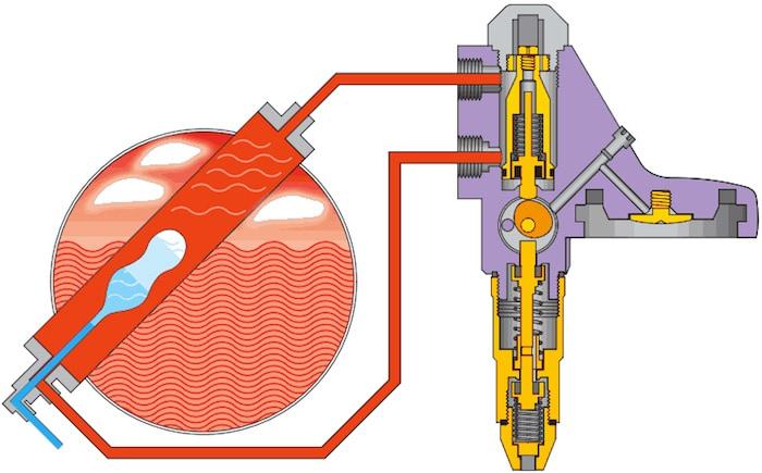 Système de chauffe thermosiphon