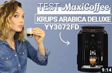 Video Test machine à café grain Deluxe Arabica de Krups
