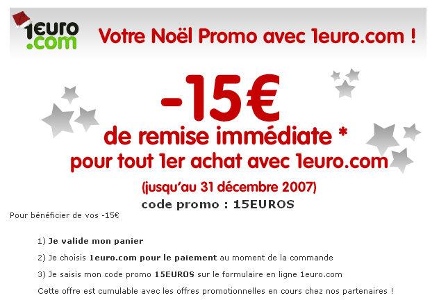 Code coupon 1euro.com