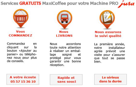 service MaxiCoffee pour machine jURA PROFESSIONNELLE