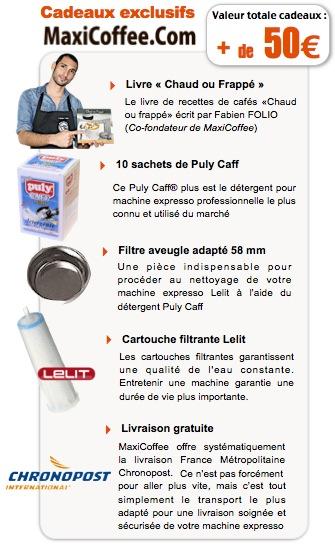 Offre cadeau pour machine expresso Lelit