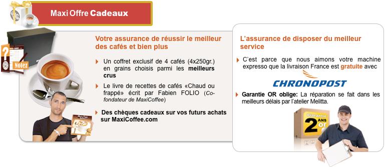 Garantie Melitta : Résumé de tous les avantages à acheter votre Melitta sur MaxiCoffee
