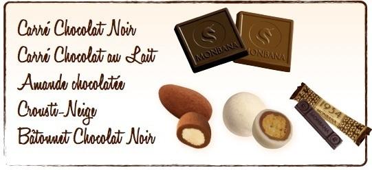 assortiment chocolats Monbana