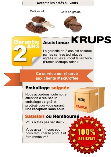 garantie machine expresso KRUPS