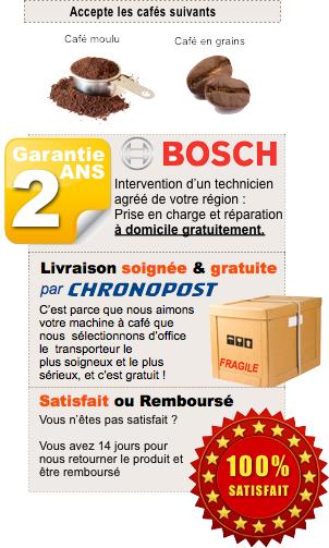 Garantie machine expresso Bosch : Qualité Allemande
