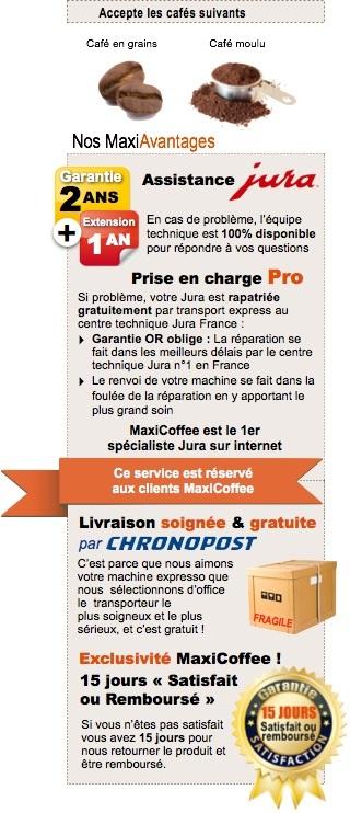 garantie 3ans Jura Impressa Z9 One Touch TFT Aroma+