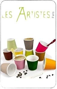 tasses à café porcelaine 10cl les artistes paris