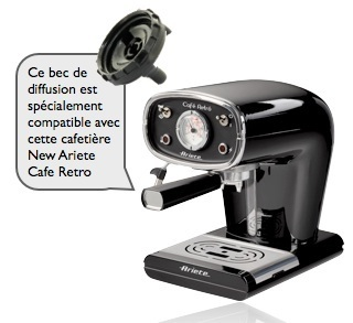 bec diffusion 2 tasses new ariete cafe retro